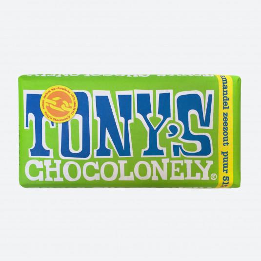 Tony's Chocolonely Puur 51% Amandel Zeezout