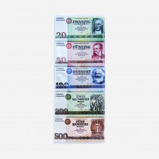 Schokotäfelchen DDR Geldscheine