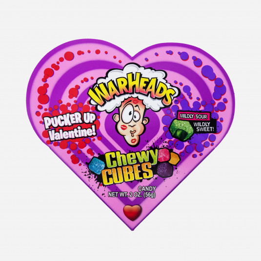 Warheads Chewy Cubes Heart