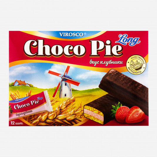 Virosco Choco Pie Erdbeere Long