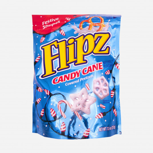 Flipz Candy Cane Covered Pretzels