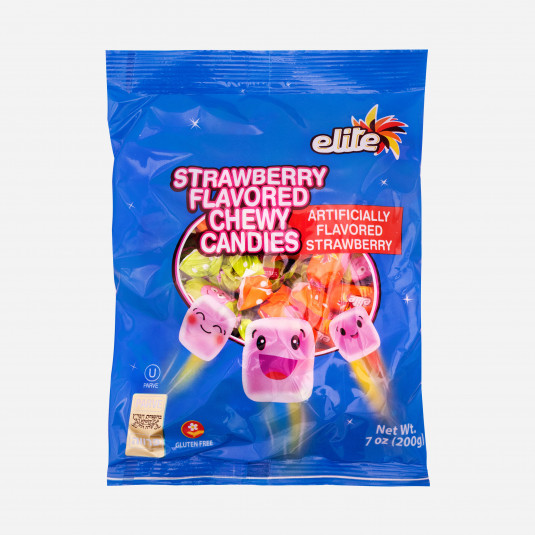Elite Strawberry Chewy Candies