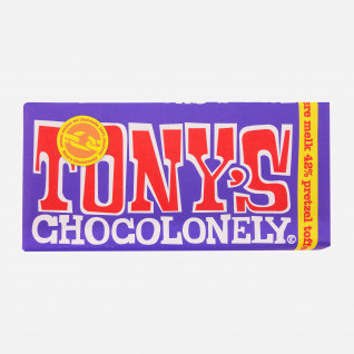 Tony's Chocolonely Melk 42% Pretzel Toffee