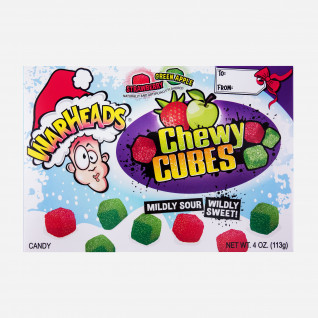 Warheads Sour Chewy Cubes Christmas Theatre Box
