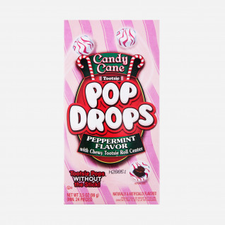 Tootsie Candy Cane Pop Drops