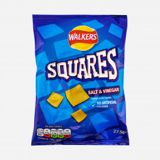 Walkers Squares Salt and Vinegar