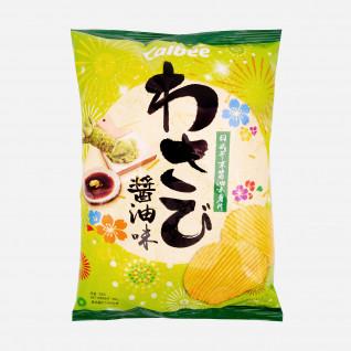 Calbee Potato Chips Wasabi Shoya Flavor