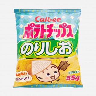 Calbee Potato Chips Seaweed Flavor