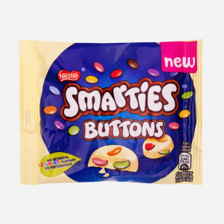 Smarties Buttons White
