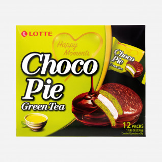 Lotte Choco Pie Green Tea